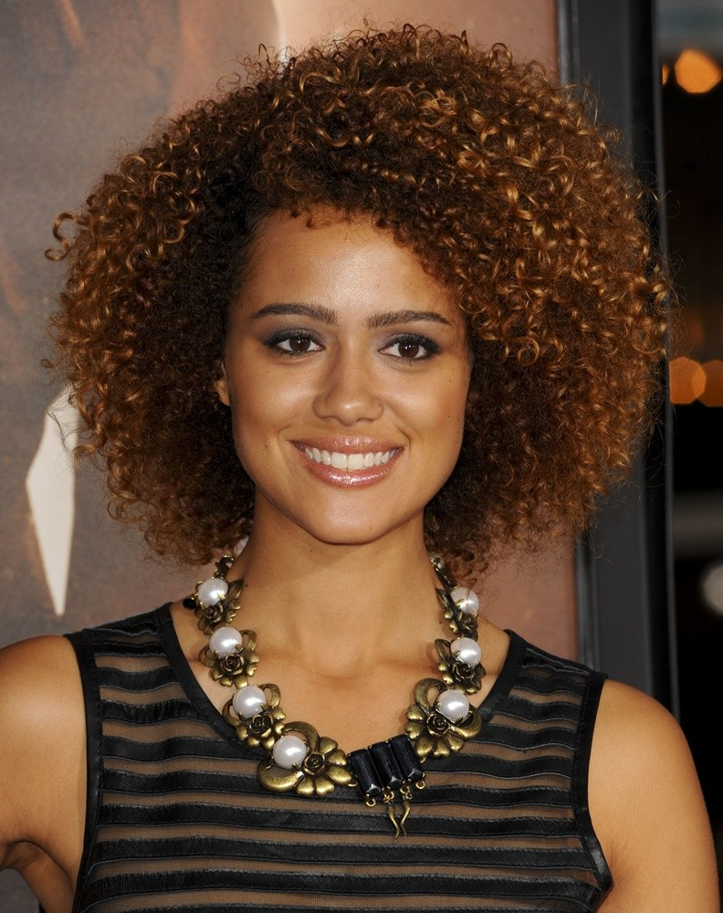 The 28-year old daughter of father (?) and mother(?), 168 cm tall Nathalie Emmanuel in 2017 photo