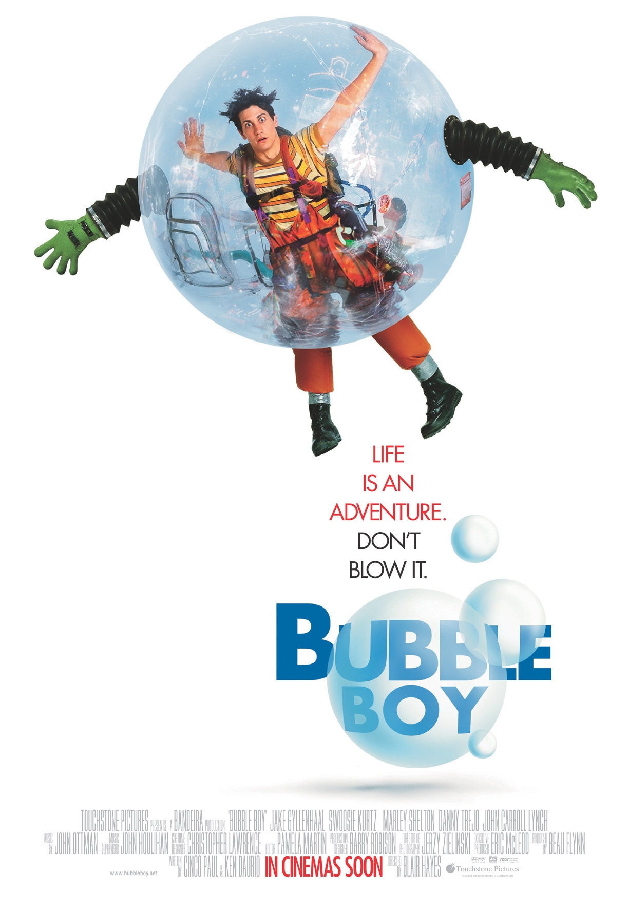 bubble boy Bubble boy - a coming-of-age comedy follows the life of jimmy livingston (jake gyllenhaal), a young man born without immunities and raised in a manufactured.