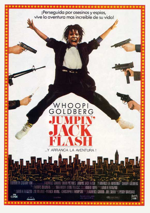 jumpin jack flash A computer operator (goldberg) at a bank is plunged into an exciting world of international intrigue, danger and romance when her terminal gets an sos from jumpin' jack flash, a british spy stranded in eastern europe.