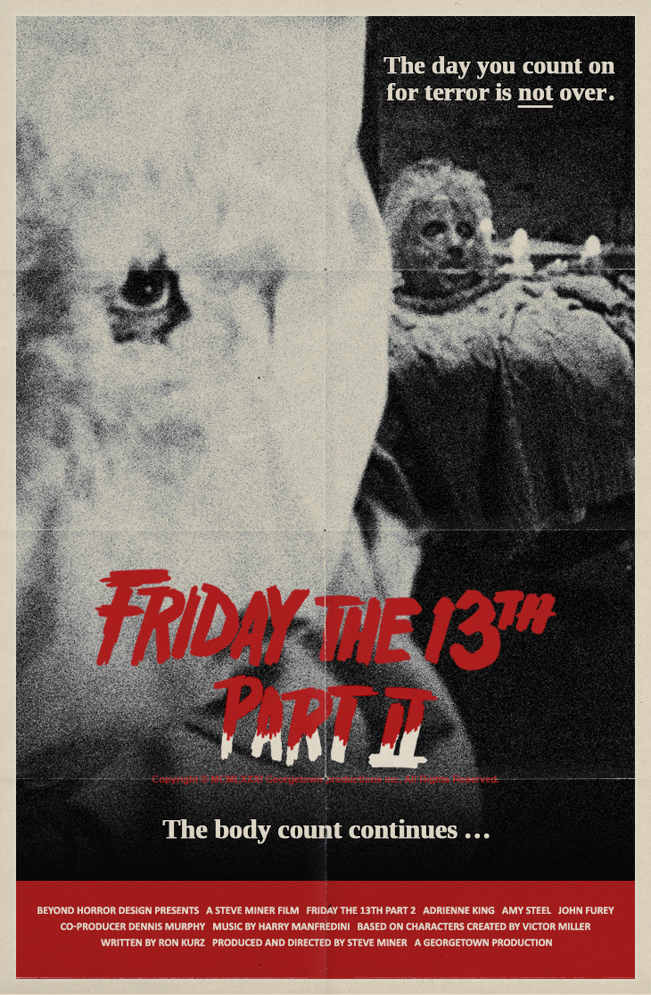 Original friday the 13th part 2 movie poster