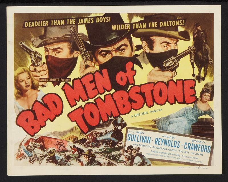 Movie posters of tombstone