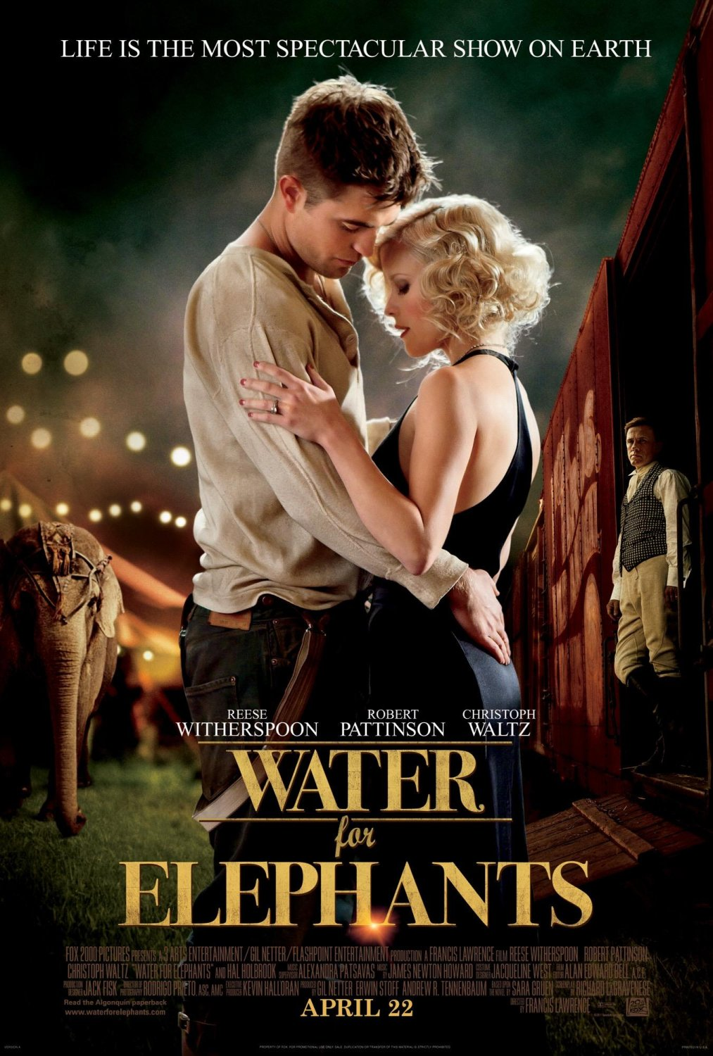 Poster rezolutie mare Water for Elephants (2011) - Poster ...