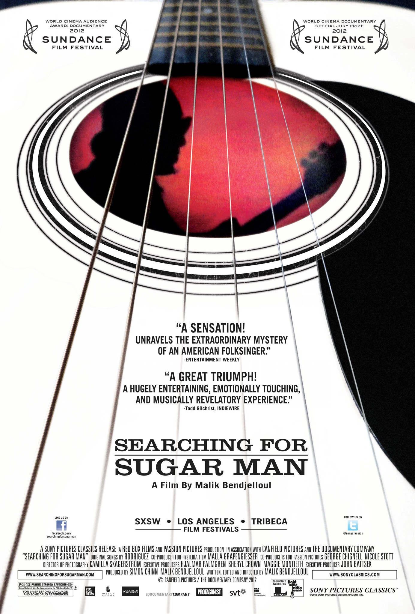 SEARCHING FOR SUGAR MAN – IN CAUTAREA LUI SUGAR MAN (2012)