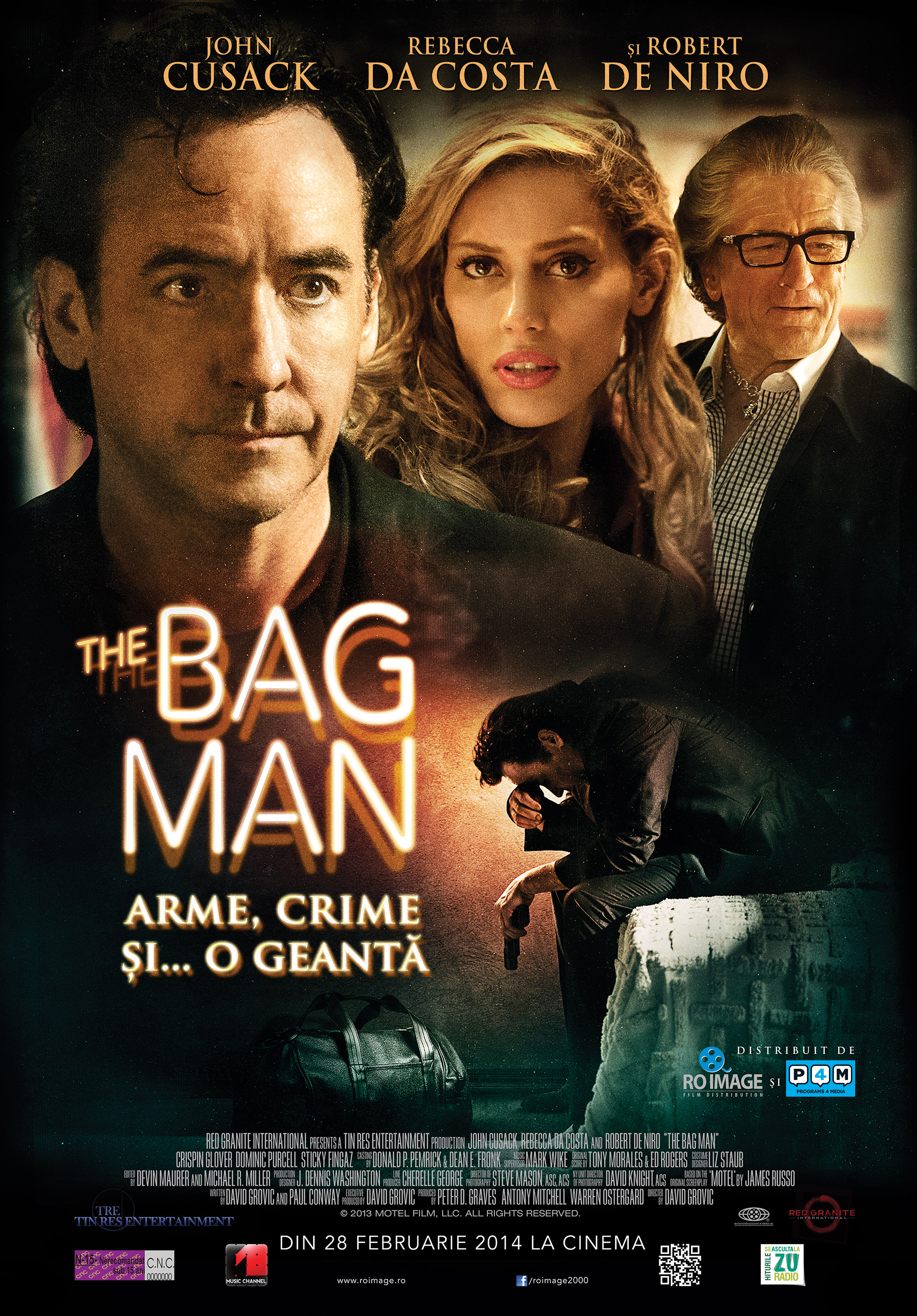 კაცი ჩანთით - The Bag Man / Мотель (2014)