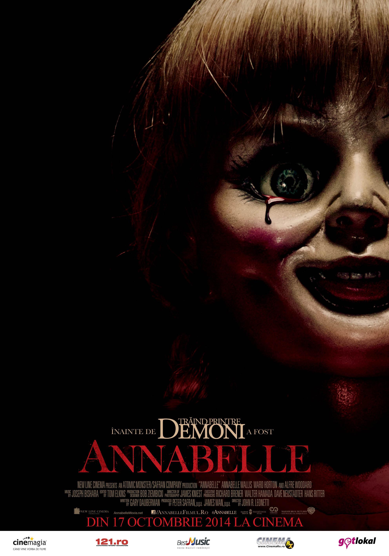 Descriere Film 2014 Horror Annabelle (2014) : Un super film care nu trebuie ratat, se lucreaza la el sa fie postat online cu subtitrare in Romana.In cateva zile o sa fie prezent gratis Annabelle (2014). Acum începe totul pentru Annabelle. Capabilă de cele mai crunte acte de cruzime, păpuşa