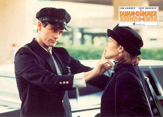 Jim Carrey, Lauren Holly în Dumb & Dumber