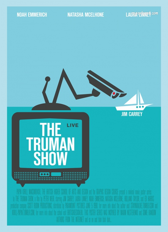 poster the truman show 1998 poster truman show