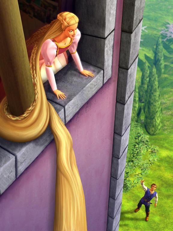 barbie as rapunzel full movie english version