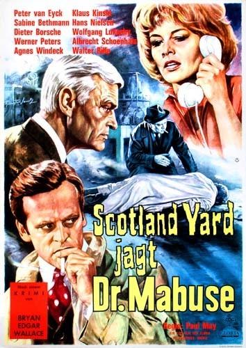 Poster Scotland Yard jagt Dr. Mabuse (1963) - Poster 1 din ...