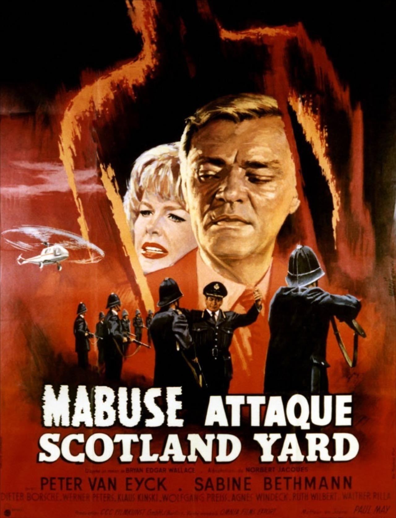 Poster Scotland Yard jagt Dr. Mabuse (1963) - Poster 4 din ...