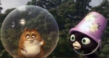 Radulescu si Otil, pisica maidaneza si hamster in Bolt 3D
