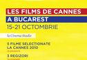 Articol Filmele de la Cannes 2010 vin la Bucureşti