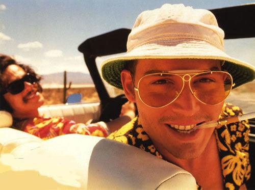 Johnny Depp în Fear and Loathing in Las Vegas