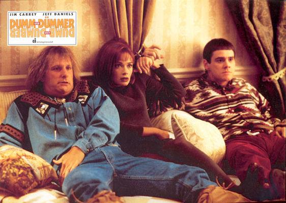 Jim Carrey, Jeff Daniels, Lauren Holly în Dumb & Dumber