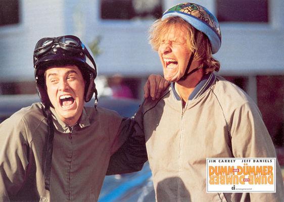 Jim Carrey, Jeff Daniels în Dumb & Dumber