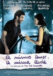 Poster El mismo amor, la misma lluvia