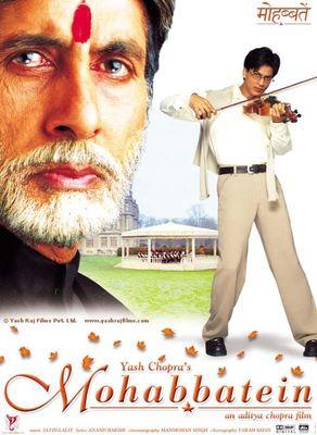 Poster Mohabbatein (2000) - Poster Dragoste si teroare ...