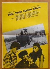 Poster Prea tineri pentru riduri