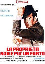 Poster La proprietà non è più un furto