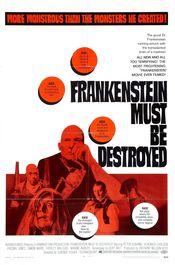Poster Frankenstein Must Be Destroyed