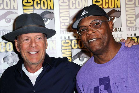 Bruce Willis, Samuel L. Jackson în Glass