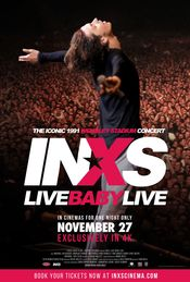 Poster INXS: Live Baby Live