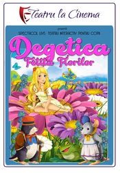 Poster Degețica, fetița florilor