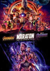 Poster MARATON AVENGERS: INFINITY WAR & ENDGAME - 3D