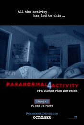 Poster Paranormal Activity 4