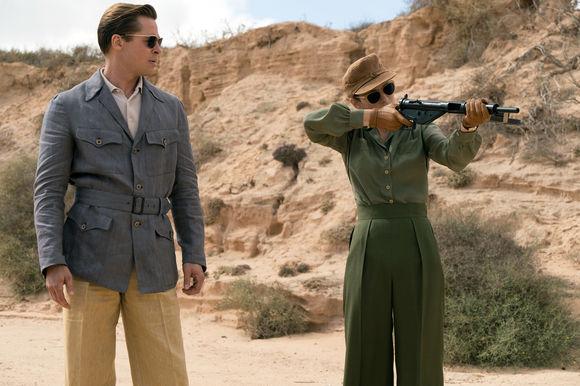 Brad Pitt, Marion Cotillard în Allied